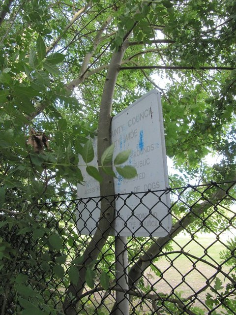 Sign near the gate