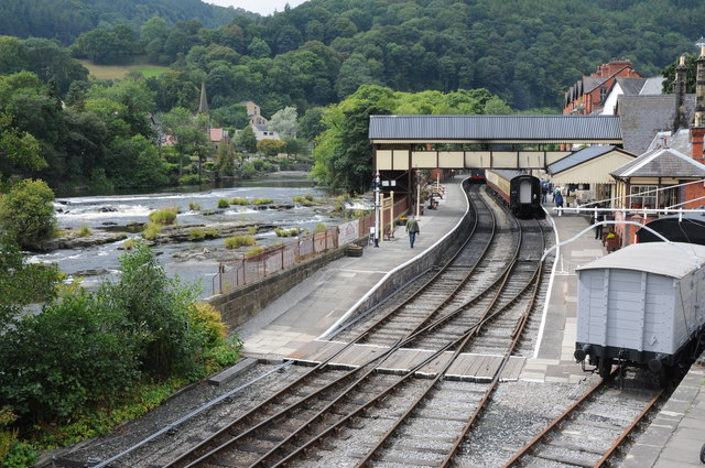 Llangollen Station and River Dee