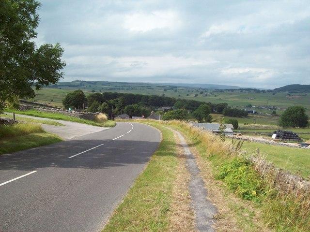 Road Overlooking Wardlow Village