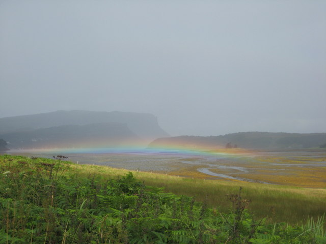 Rainbow at Portree harbour