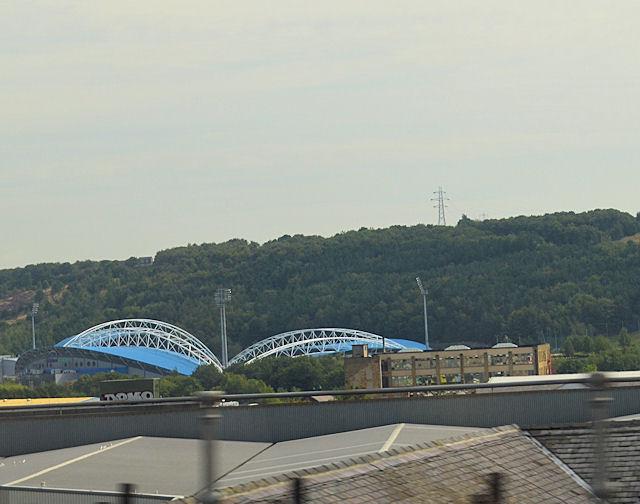 Across Huddersfield to football stadium