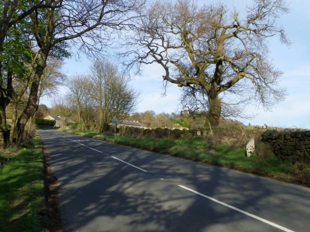 Milepost near Blazefield
