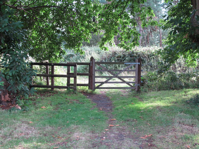 Gate on footpath
