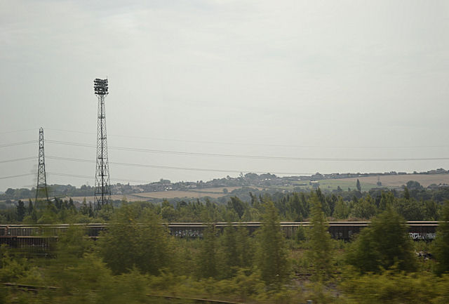 View across Healey Mills yard