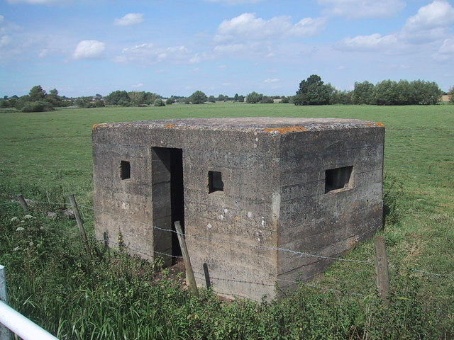 World War II pillbox guards the bridges at Somerton