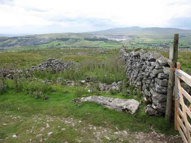 Ruined sheepfold alongside Long Lane