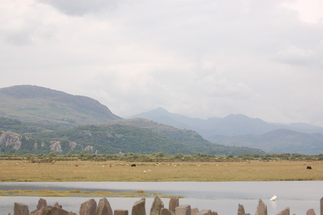 View from causeway at Porthmadog