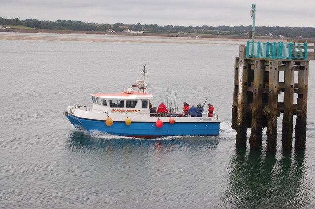 Day fishing trip leaving Landerne pier