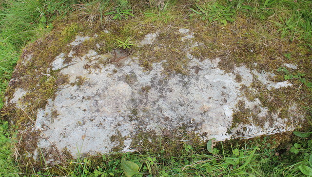 Cup-marked slab near Cnoc-an-tealiaidh