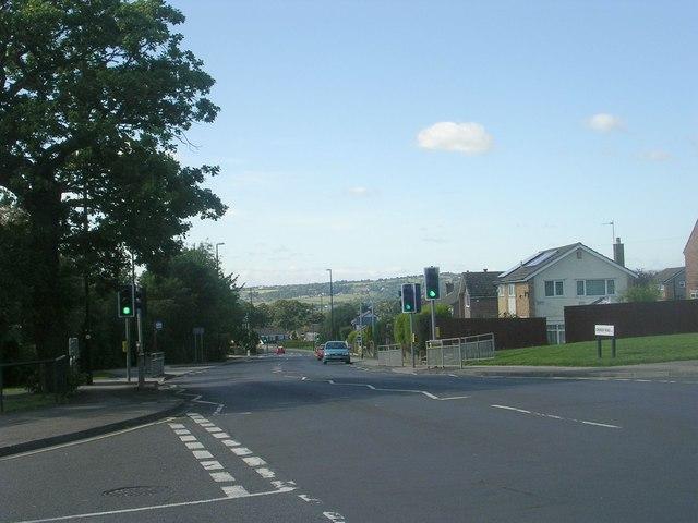Church Road - viewed from Church Lane
