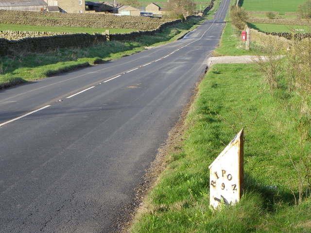 Milepost near Wilsill