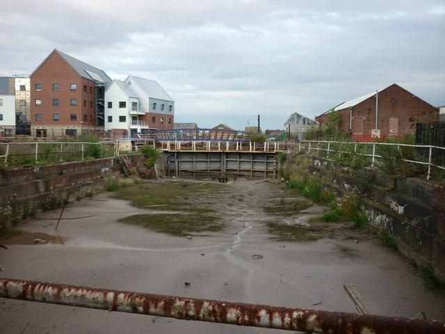 One of three former dry docks on High Street, Hull
