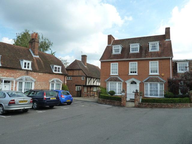 Houses opposite the parish church