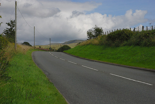 The A470 east of Cross Foxes