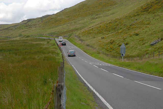 The A470 west of Bwlch Oerddrws