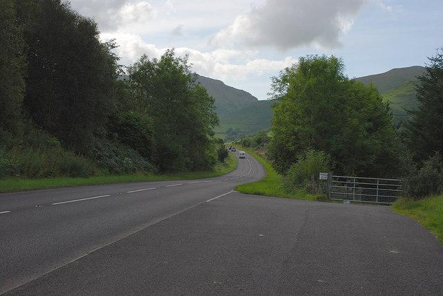 The A470 near Mynogau Uchaf farm
