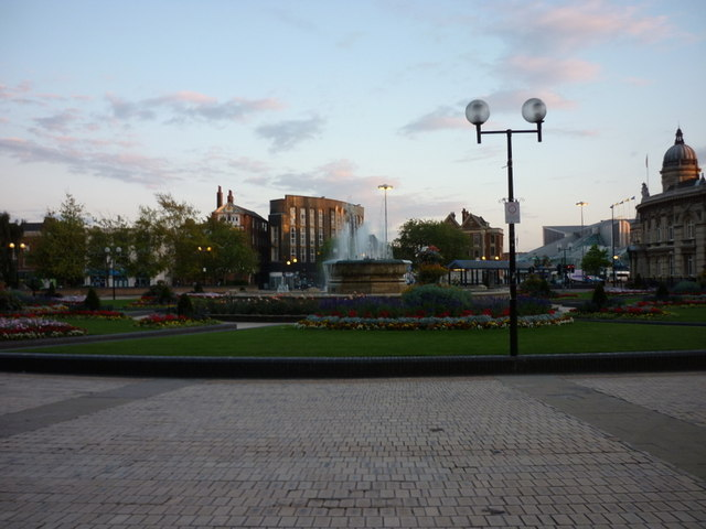 The fountain at Queens Gardens, Hull