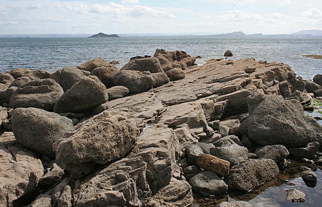 Limestone Layers and Lava Lumps