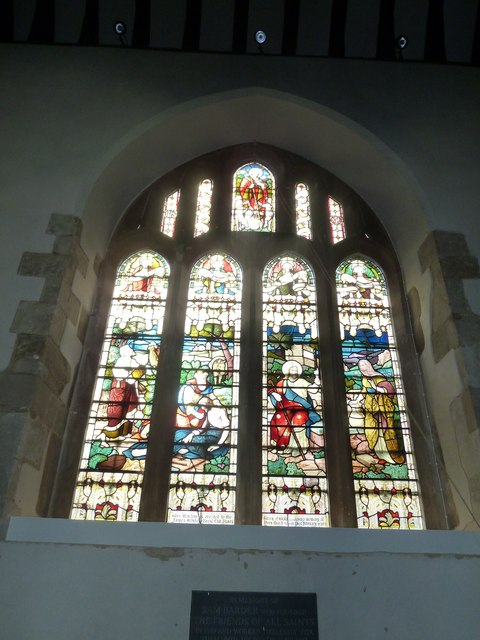 Odiham, All Saints: stained glass window (1)