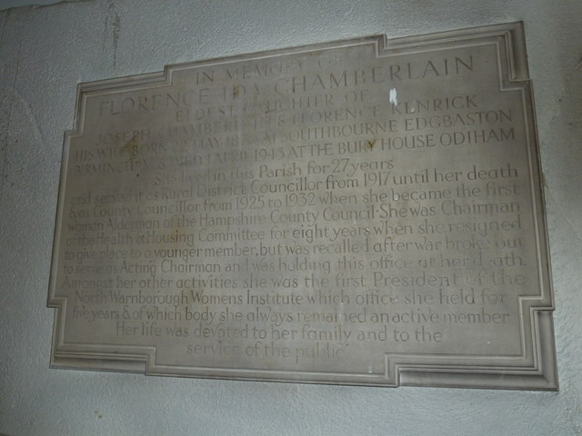 Odiham, All Saints: memorial (3)