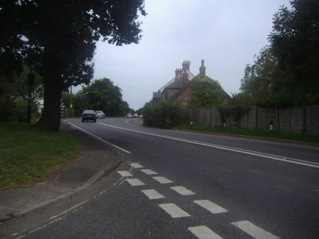 Selsey Road at the corner of Manhood Lane
