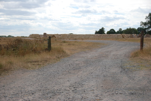Straw Bales being Stored, Little Onn Airfield