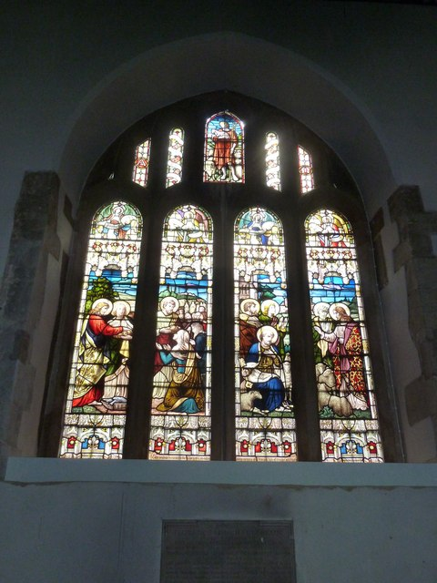 Odiham, All Saints: stained glass window (3)