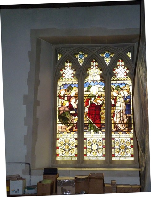 Odiham, All Saints: stained glass window (4)