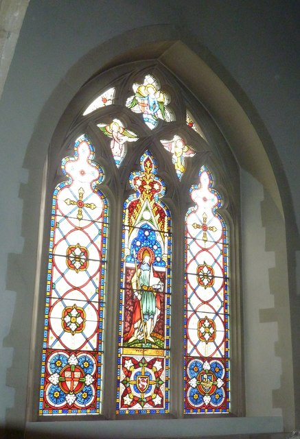 Odiham, All Saints: stained glass window (5)