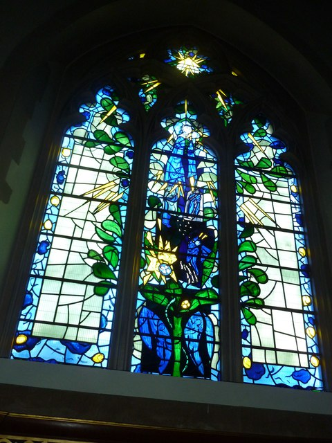 Odiham, All Saints: stained glass window (7)