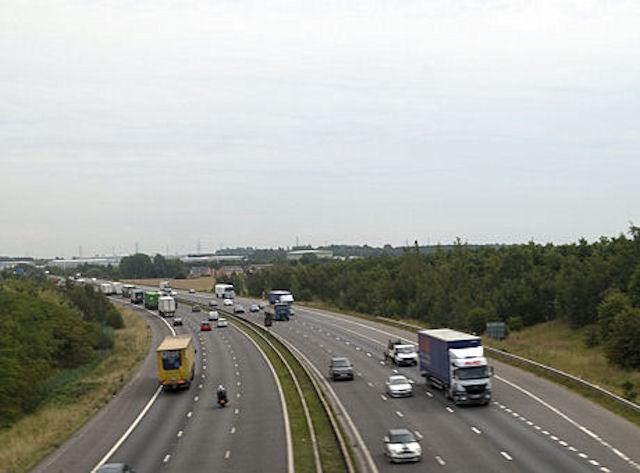 M62 east towards junction 31