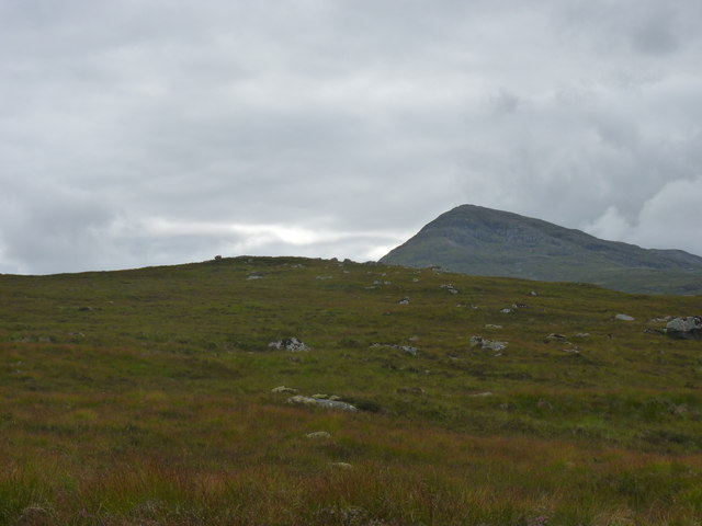 The unfrequented top of Beinn Chaorach with Meall a' Bhuiridh behind