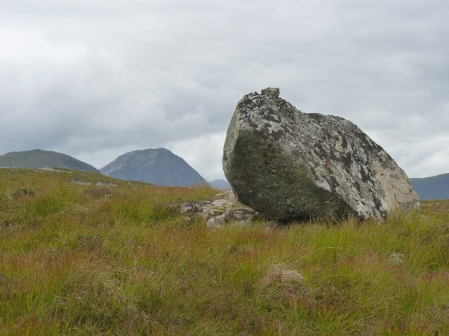 Substantial boulder on eastern slopes of Beinn Chaorach, possibly an erratic