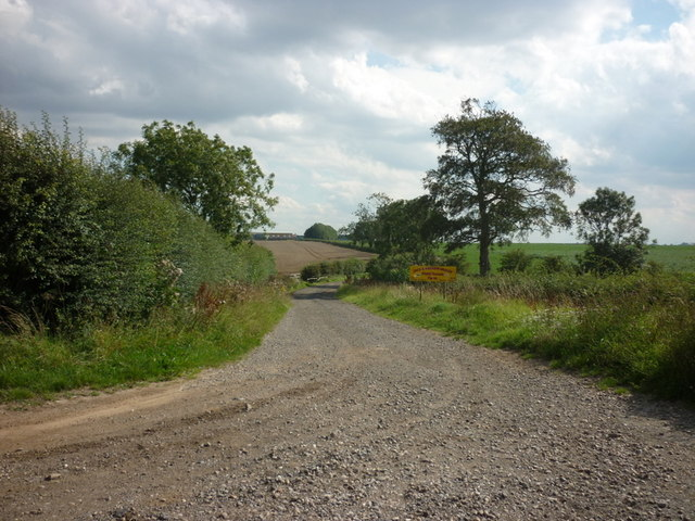 The way to Field House Farm, Catwick