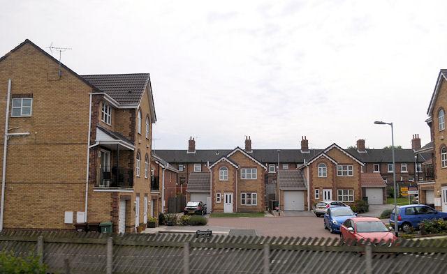 New housing in Kensington Gardens Castleford