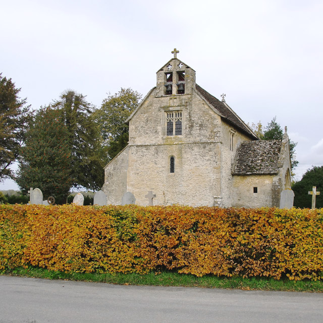 Little Faringdon church, in late October