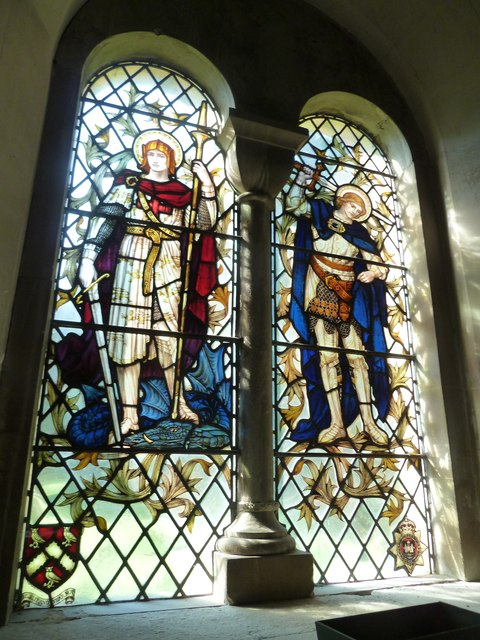 All Saints, Crondall: stained glass window (1)