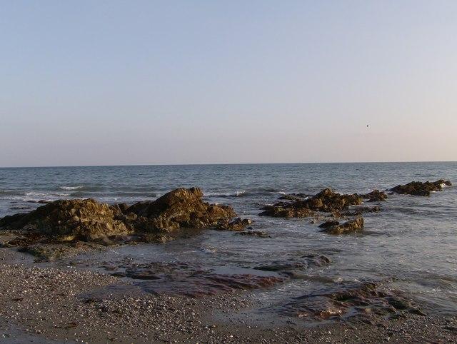 Lava reef on Seaton Beach