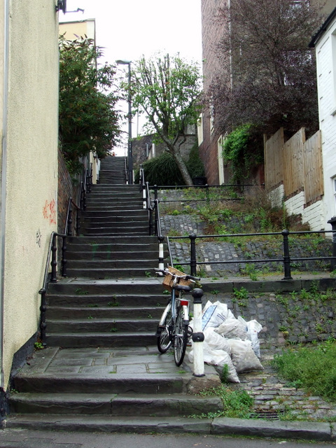 Steps to Pylle Hill Crescent