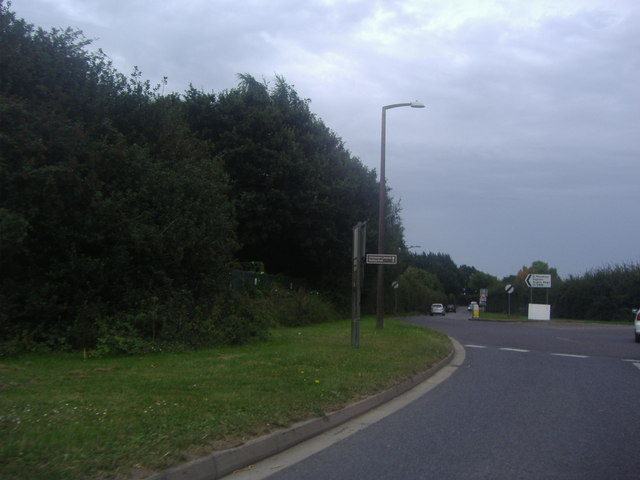 Roundabout on the B2415, Hunston