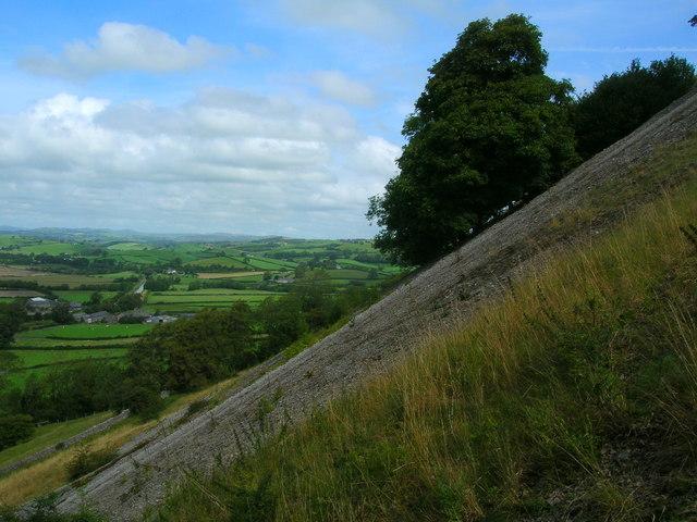 Scree slope on Farleton Fell