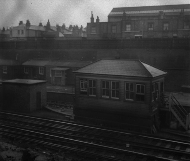 Woolwich Arsenal Signal Box in 1959