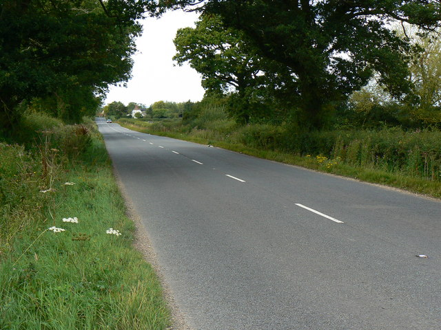 North along the B4696 near Leigh