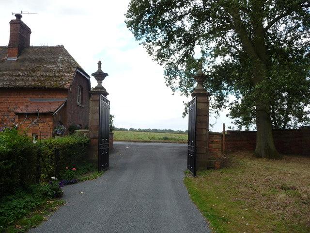 Gateposts at Mawley Hall near Cleobury Mortimer