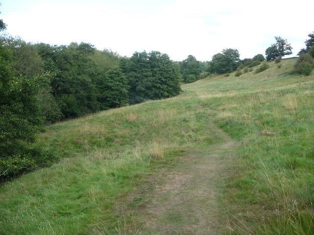 Path beside the River Rea near Cleobury Mortimer