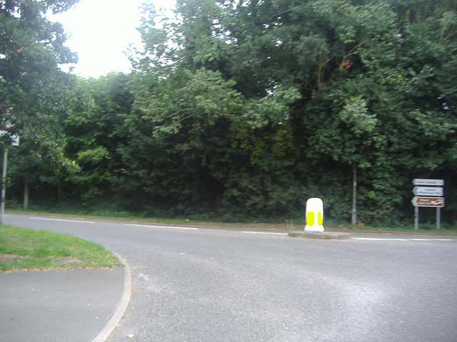 Junction of Pook Lane at the A286, Lavant