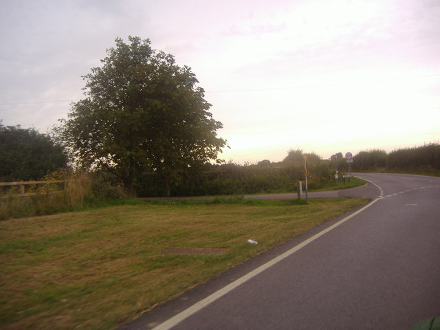 Junction of Selsey Road and Wophams Lane