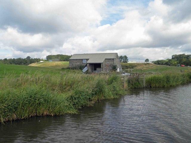 Barn alongside the Leeds Liverpool canal Skipton