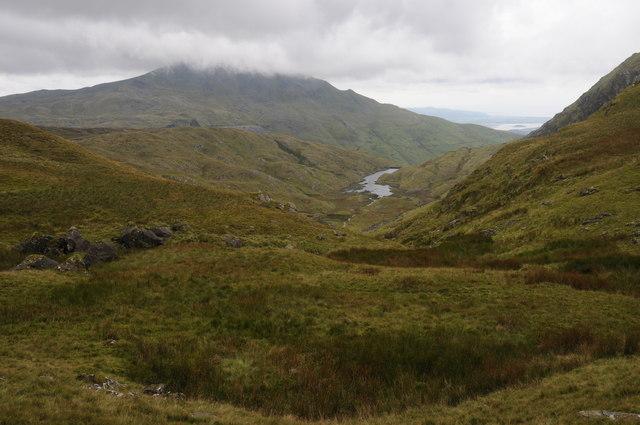 View over Llyn Cwm-y-foel