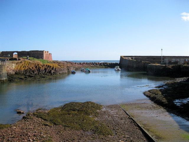 Broadhaven - blocked up former harbour entrance